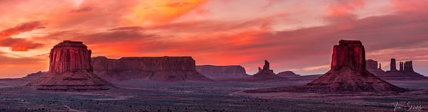 Navajo Sunset Pano - Tim shields photography
