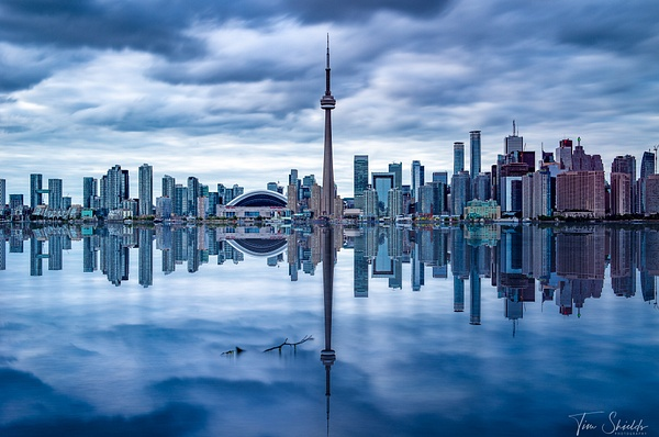 Toronto Skyline Reflection - Tim shields photography