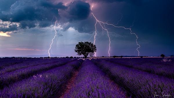 Valensole lightning - Rockscapes - Tim Shields Landscape Photography