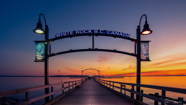 White Rock Pier sunset 16x9 from 2013 - Cityscapes - Tim Shields Landscape Photography