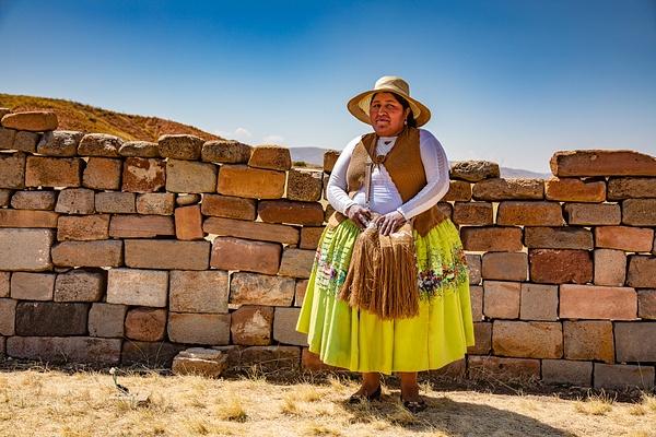 Indigenous lady at Inca Site by Michael McNamara