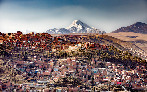La Paz from El Alto by Michael McNamara