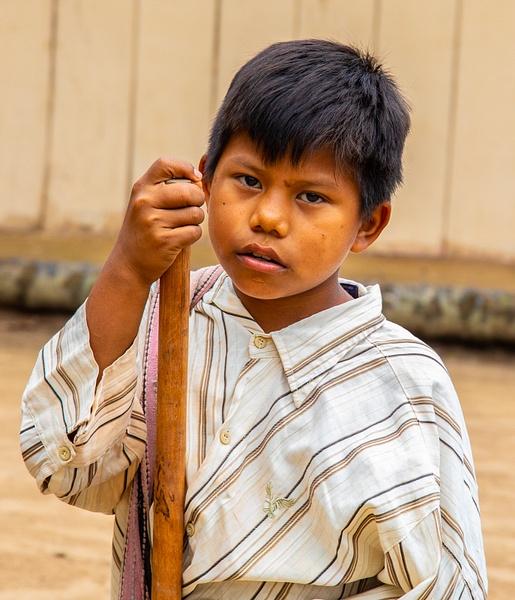 Young boy in a Beni River village by Michael McNamara
