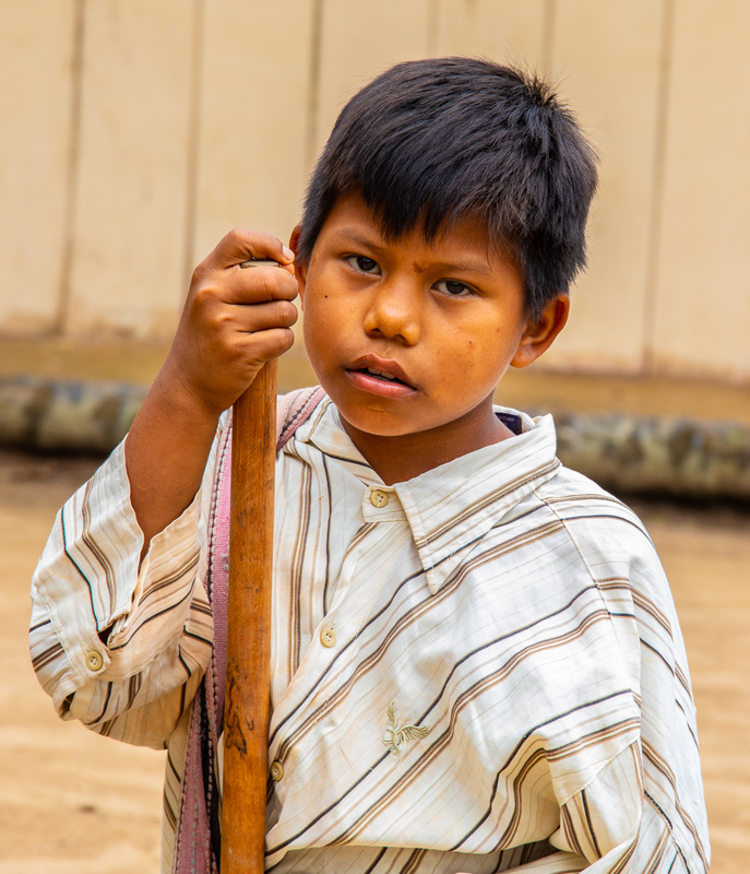 Young boy in a Beni River village