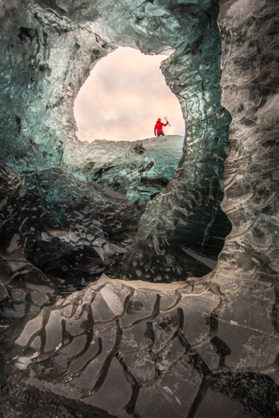 David over Ice Cave by Jack Kleinman