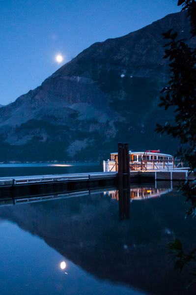 Moonlit Lake, Glacier Park by Jack Kleinman