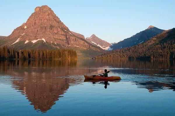 Kayaker in Early Light by Jack Kleinman