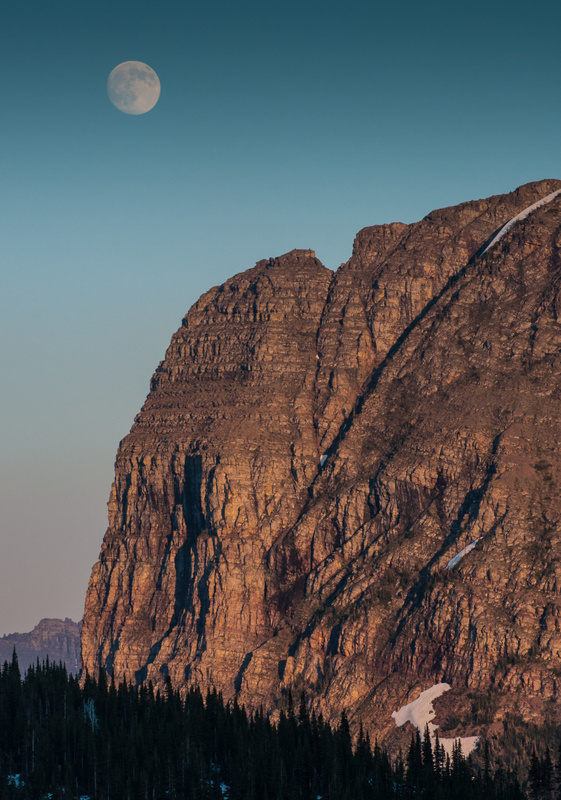 Moonrise Glacier Park