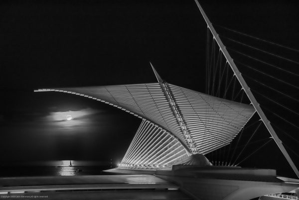 Full Moon & Calatrava - Milwaukee and Wisconsin - Jack Kleinman Photography