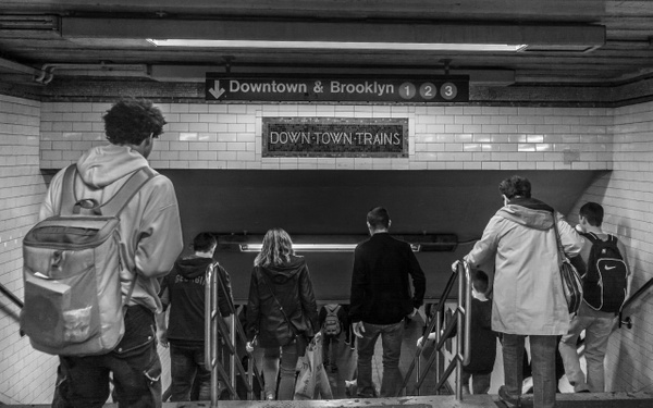 Downtown Trains, Times Square - People - Jack Kleinman Photography