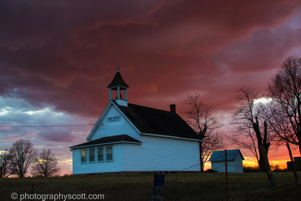 Old Schoolhouse After the Storm - Golden Hours - PhotographyScott