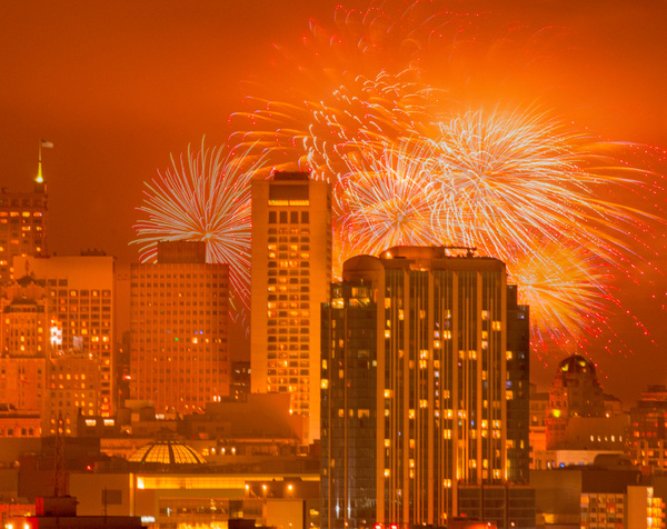 Fourth of July III- - Cityscapes - Neil Sims