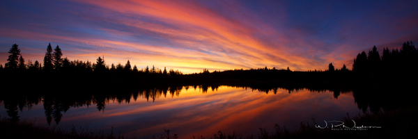 Morning sunrise Sibbald Trail - Home - Walter Nussbaumer Photography