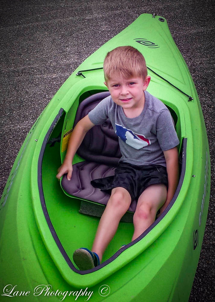 Cooper in Kayak (1 of 1) - Children - Lane Photography