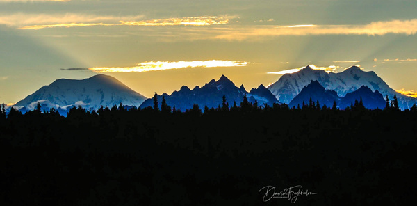 Sunset over Denali - Home - David Frykholm Photography