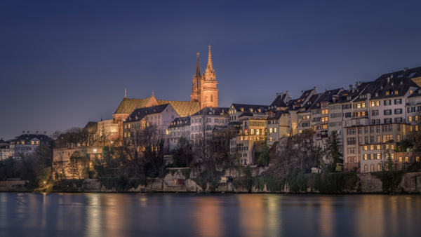 Basel Munster By Night - City And Architecture - Marko Klavs Photography