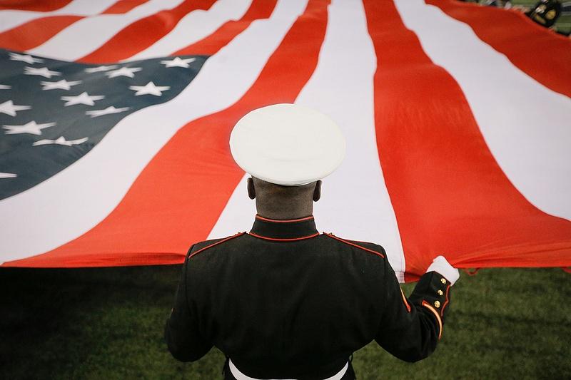 Marine flag detail port
