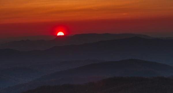 Smoky Sunset by Allan Barnett
