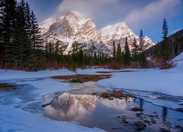 Mount Kidd-Mt. Kidd, Kananaskis, Alberta, Canada by Yves...