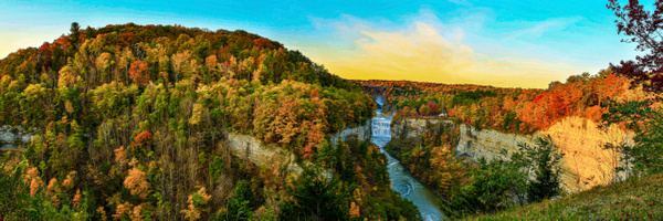 Archers Bend-Letchworth State Park (US0451) - Panorama - Bella Mondo Images