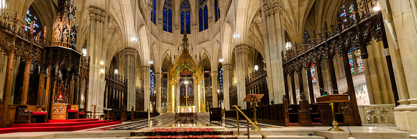 St Patricks Cathedral (US0321) - Panorama - Bella Mondo Images