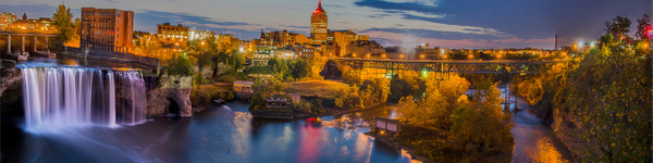 High Falls Rochester(US0075-1) - Panorama - Bella Mondo Images