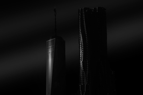 World Trade Center B_W (US0448) - Black White -Bella Mondo Images