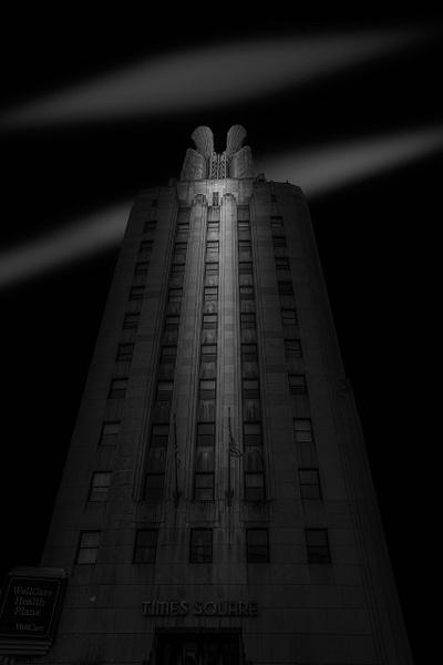 ime Square Building (US0444) - Black White -Bella Mondo Images