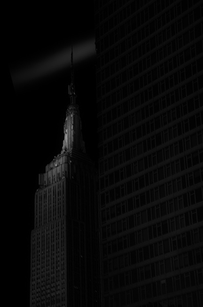 Empire State Buildiong BW (US0478) - Black White -Bella Mondo Images