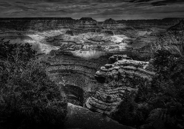 North Rim Grand Canyon (US1744) - Black White -Bella Mondo Images