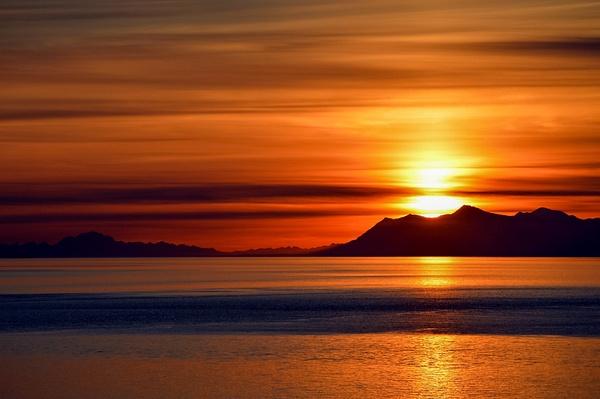 Turnagain Sunset Golden by Snowkeeper