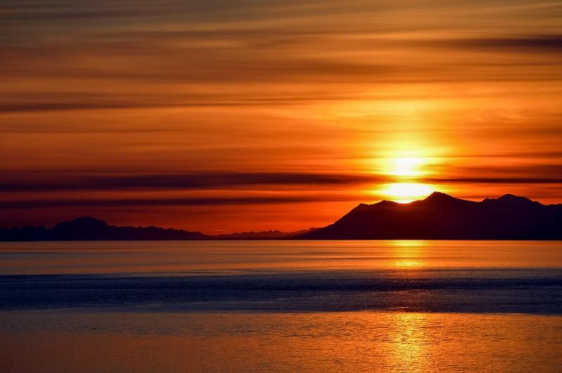 Turnagain Sunset Golden