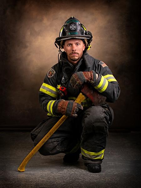 Firefighter Portrait - Home - Lightweaver Photography