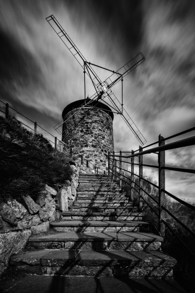 St Monans Windmill - Monochrome photography