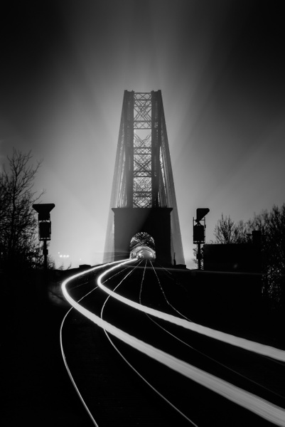 The Forth Bridge - Monochrome photography