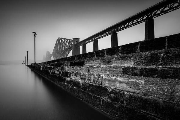 The Forth Bridge - Monochrome photography