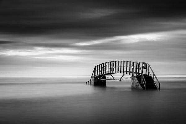 The Bridge to Nowhere, Dunbar - Monochrome photography