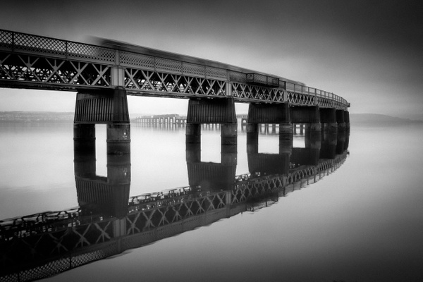 The Tay Bridge - Monochrome photography