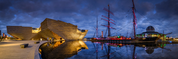 Dundee V&A and Discovery Point - Panoramic landscape photography