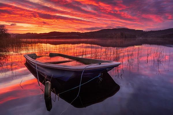 Submerged Boat, Loch Ard - Scottish Landscape Photography