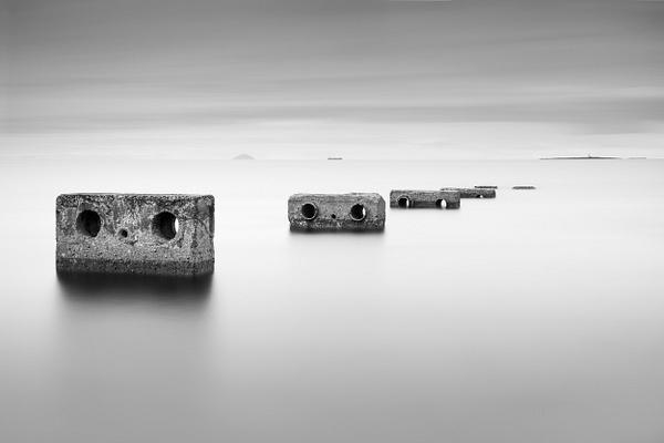 Ballast Bank, Troon - Monochrome photography