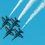 US Navy Blue Angels. Diamond Formation.