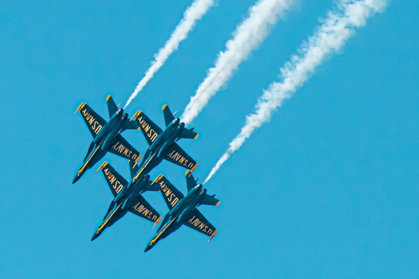 US Navy Blue Angels. Diamond Formation. by MichaelReining