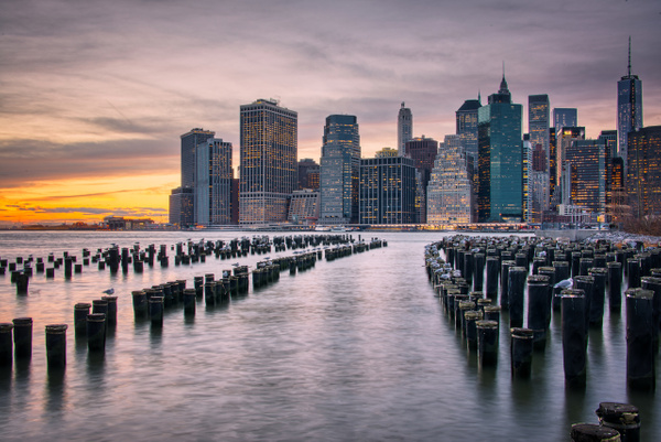 NYC_Brooklyn_Pylons_Sunset - Travel - Marcs Photo