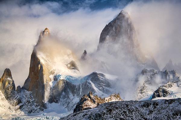 Patagonie Fitz Roy Zoom enneigé - Landscape -  Marcs Photo