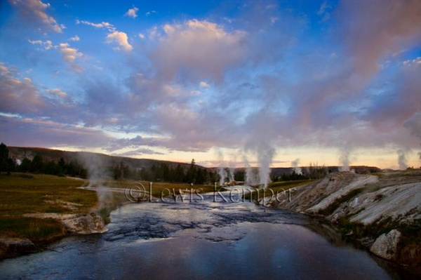 Sunrise, Firehole River by Lewis Kemper