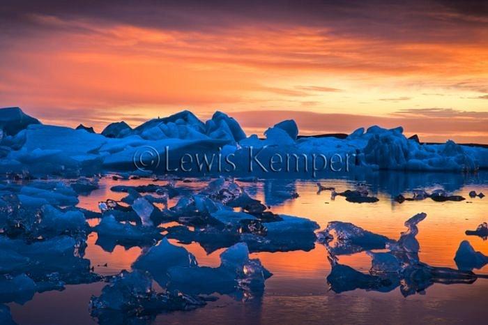 Sunrise #1, Icebergs