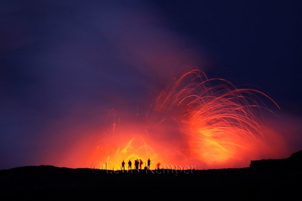 Waikupanaha eruption #3 by Lewis Kemper