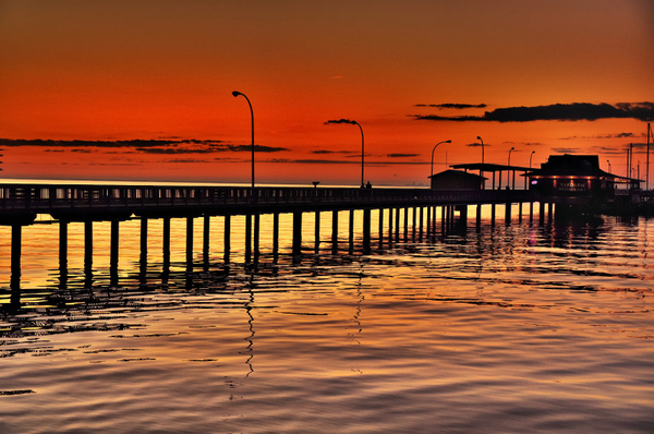 Sunset At Fairhope Pier