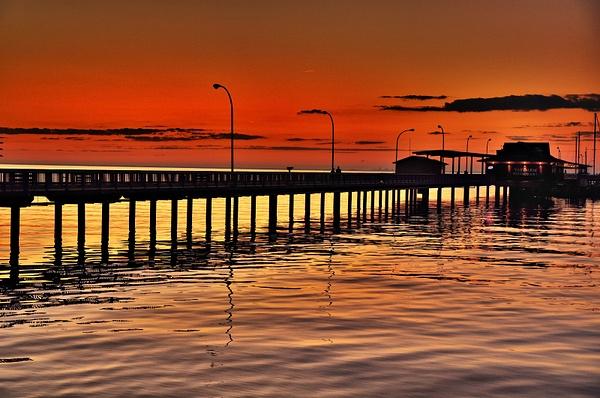 Sunset At Fairhope Pier